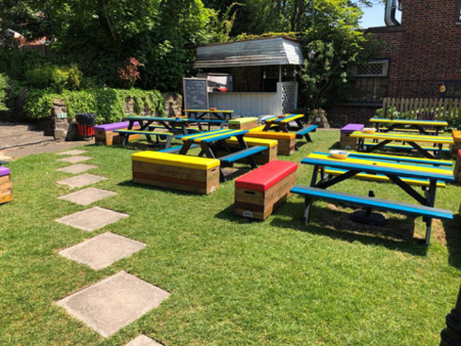 Multi-coloured garden ready for summer